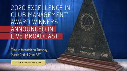 2020 Excellence in Club Management® Award Winners Live Broadcast!
